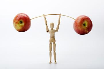 Äpfel machen stark