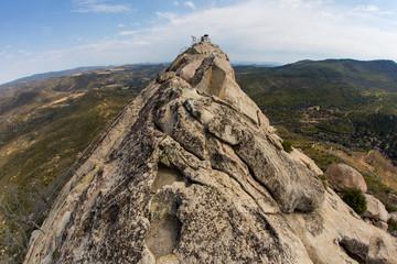 The rocky summit of Stonewall Peak. Mountain top.
