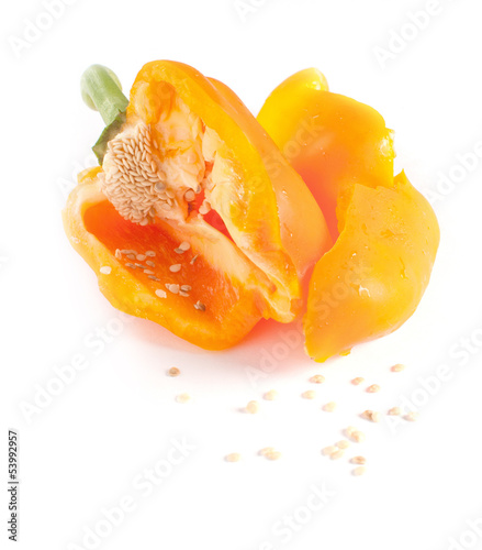 Sweet paprika broken isolated