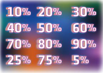 numerals percentage