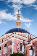 Mosque of Suleimaniye at daylight, Rhodes island,  Greece