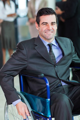 optimistic handicapped business executive