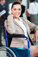 handicapped young woman in modern business world