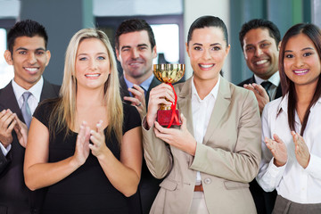 business team winning a competetition