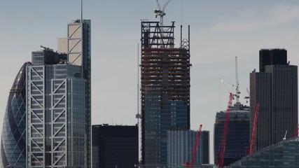 london city skyline from a high vantage point