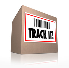 Track It Words Package Tracking Shipment Logistics