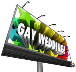 Gay Wedding Billboard Sign Banner Homosexual Marriage