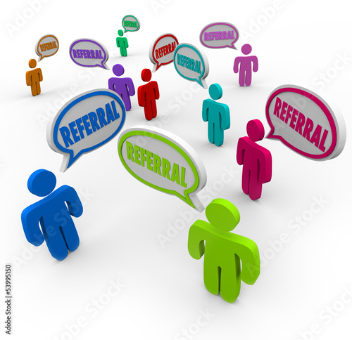 Referral Speech Bubble People New Customers Network Marketing