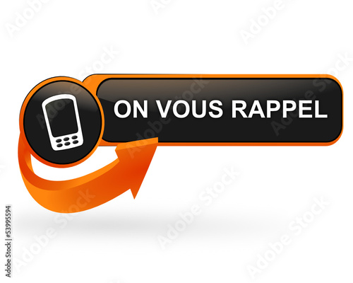 on vous rappel sur bouton web design orange