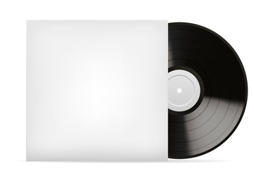 Blank white vinyl cover vector template