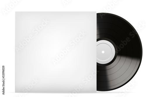 Blank white vinyl cover vector template - 53996139