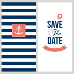 Save the date, sailor theme.