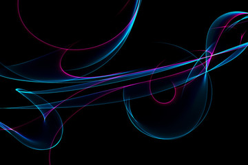 abstract ribbon waves