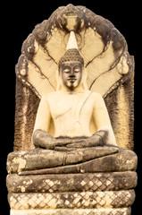 Meditating Buddha with black background