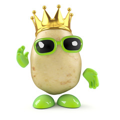 King potato waves to the masses