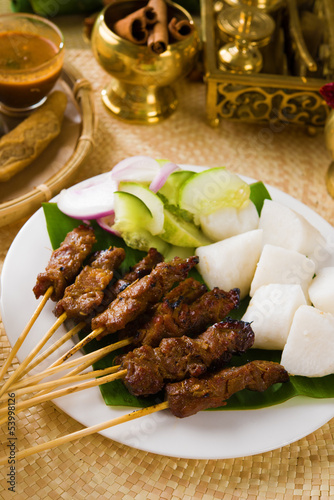 food, indonesian, malaysia, dish, indonesia, sate, meat, isolate
