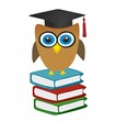 Owl and books - graduation