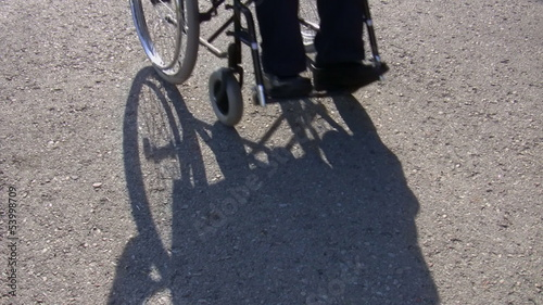 Disabled man in a wheelchair