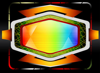 Colorful badge label abstract lighting background