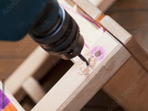 repair chair with drill