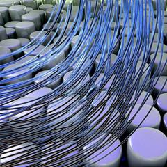 fiber optic cables - 3D Render
