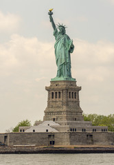 The Statue of Liberty - New York City. View form Hudson river on