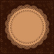 Lace vintage label brown
