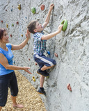 klettern and der Boulderwand