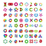 collection of abstract symbols