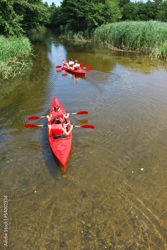 Fotobehang Water Motorsp. kajakarze