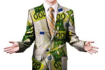 Businessman in euro suit