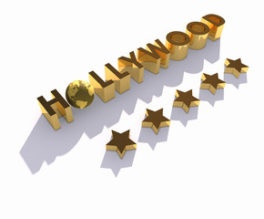 Hollywood, globe and stars