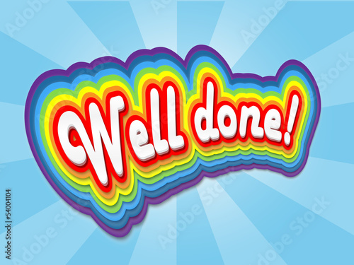 """WELL DONE!"" Card (congratulations nice one achievement message)"