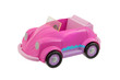 Old pink plastic toy car