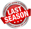 "Button Banner ""Last season"" Red/Silver"