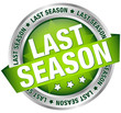 "Button Banner ""Last season"" Green/Silver"