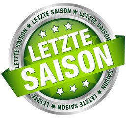 "Button Banner ""Letzte Saison"" grün/silber"
