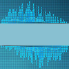 Digital blue equalizer.