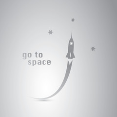 Go to Space - Rocket Icon