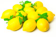 Fresh Lemons and mint leaves