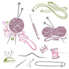 Handarbeiten, Stricken, Wolle, Häkeln, Nähen