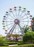 Ferris wheel in a fun fair