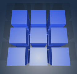 Cubes template. EPS10.