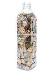 Bottle with coins