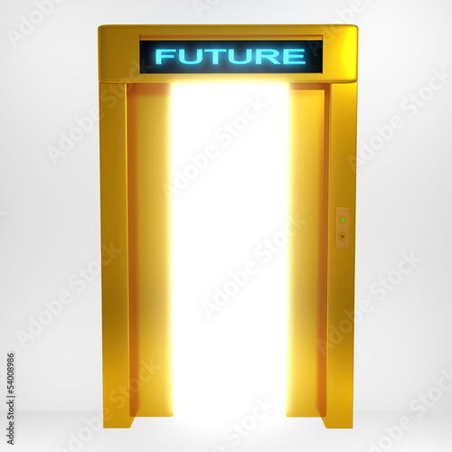 Concept a bright future rendered