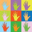 Farbige Hand