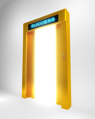 Conceptual image door to success