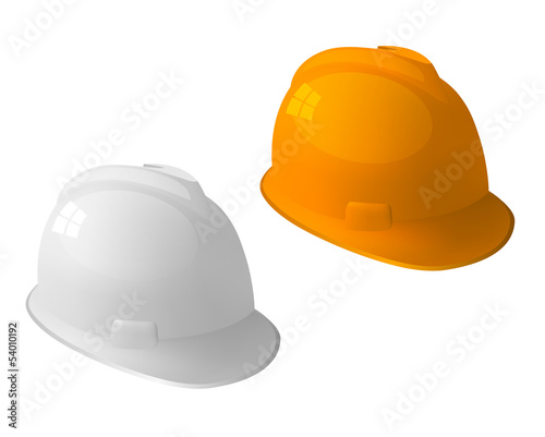 Safety hat isolated on white