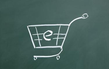 online shopping cart sign