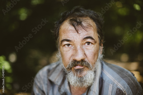 portrait of real hobo